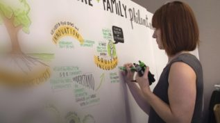 Woman planning family philanthropy