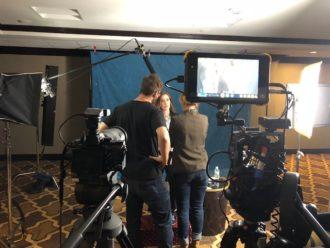 Monica George video shoot