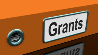 "Grants file with ""grants"" written on it"