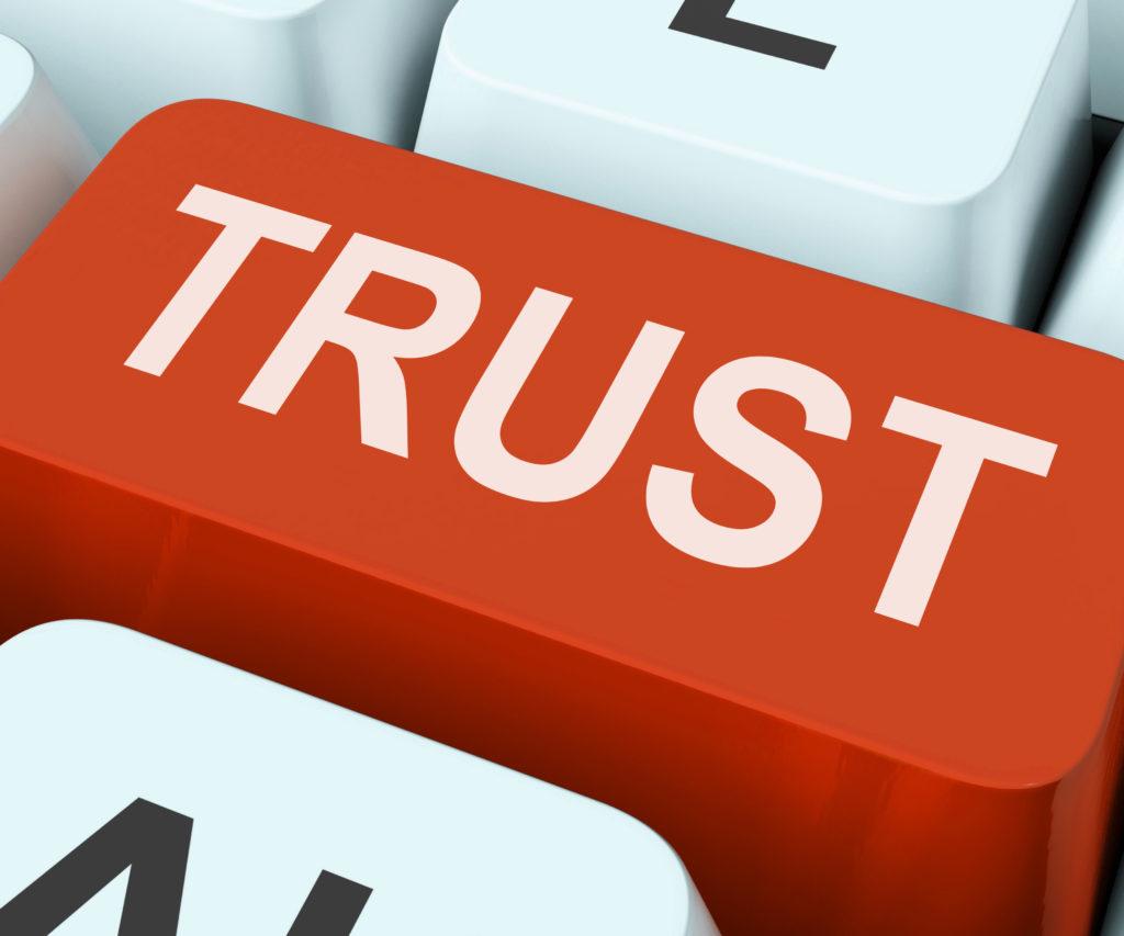Trust Key On Keyboard Meaning Believe Faith Or Trustful
