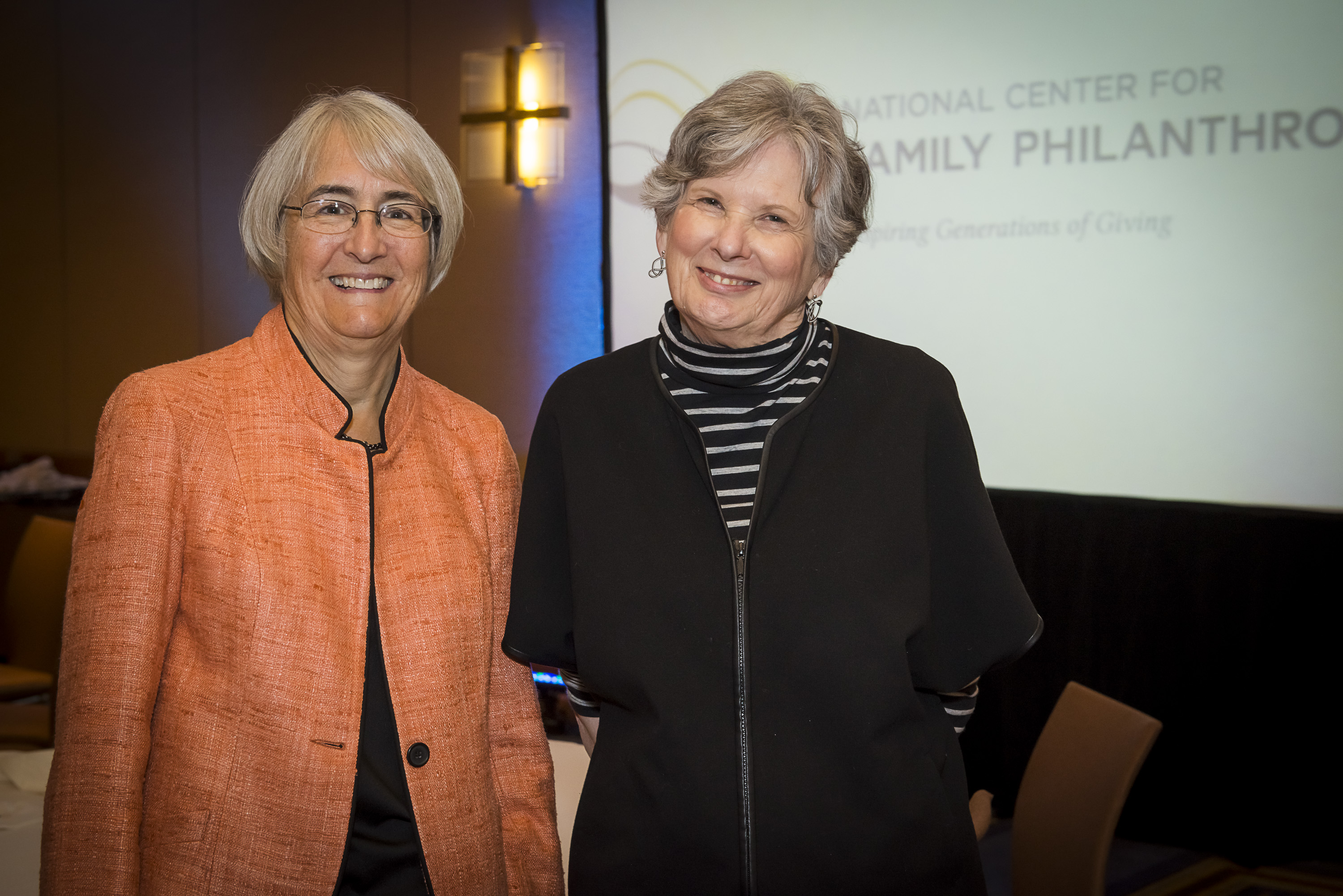 Susan Packard Orr (L) and Alice Buhl (R)
