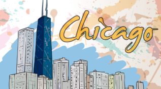 Doodle of Chicago skyline