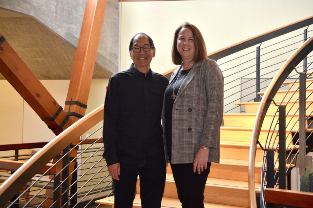 Richard Woo and Kathleen Simpson of the Russell Family Foundation