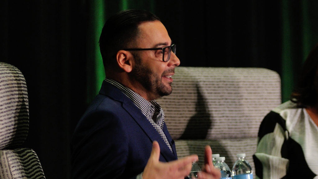 Edgar Villanueva speaking at the 2019 National Forum on Family Philanthropy