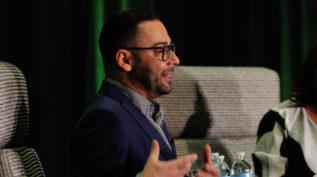 Edgar Villanueva speaking at the 2019 National Forum on Family Philanthropy