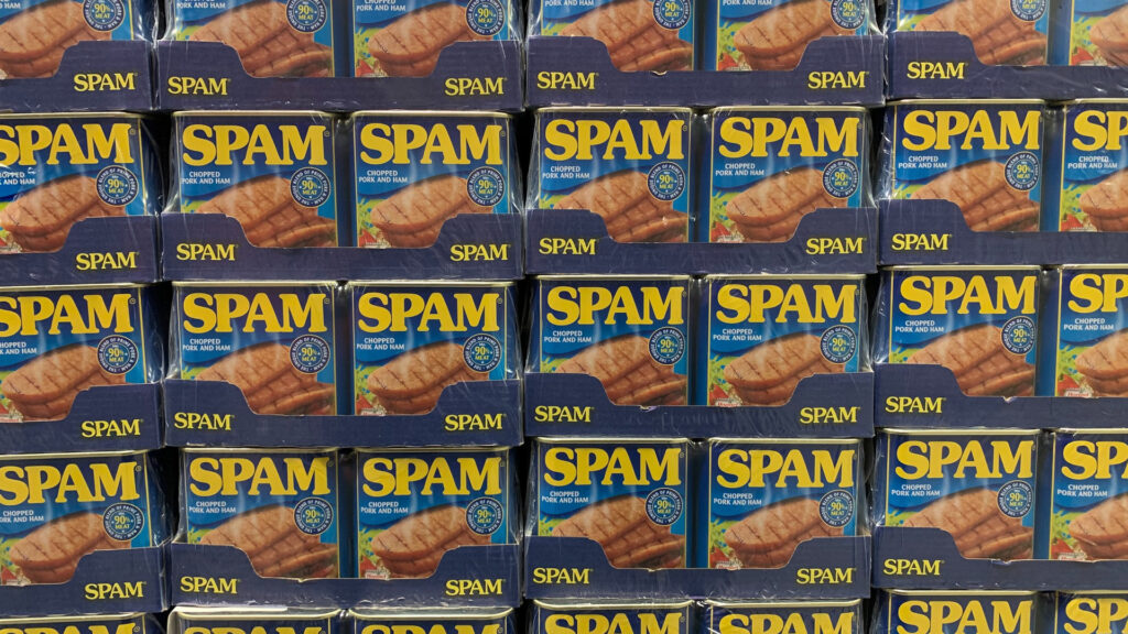 stacks of Spam