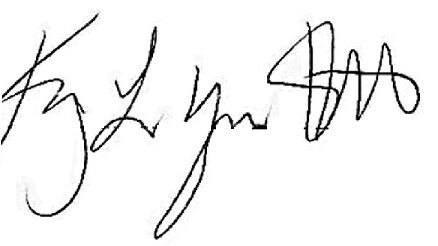 Kimberly Myers Hewlett signature