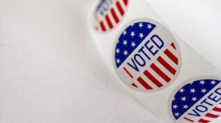 I voted sticker - Democracy