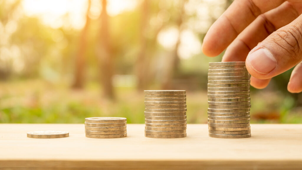 stacks of coins - grantmaking